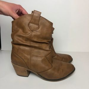 Charles Albert •  Western Heeled Ankle Boots